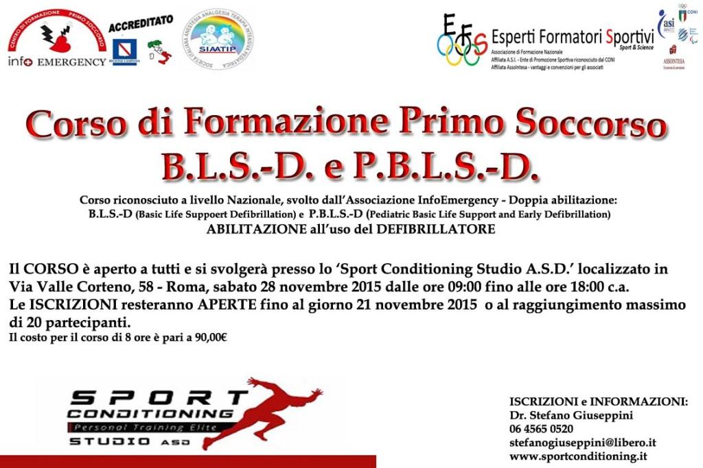 Corso BLSD - PBLSD a Roma