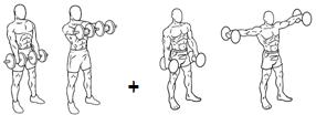 alzate frontali e alzate laterali
