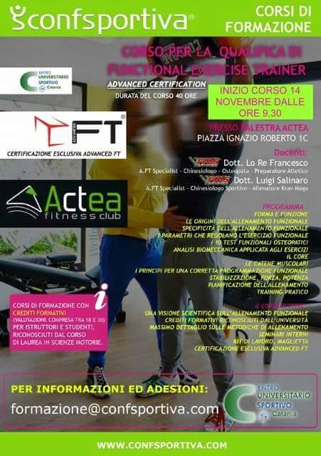 2015 - 11 - 14 Corso qualificia Functional Exercise Training