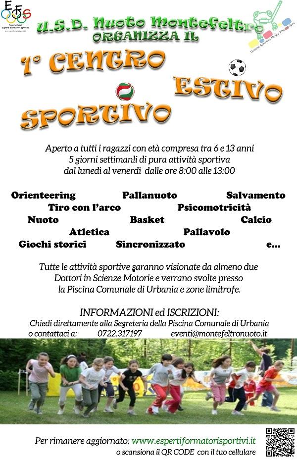 LOCANDINA Centri estivi Sportivi 2015 Urbania