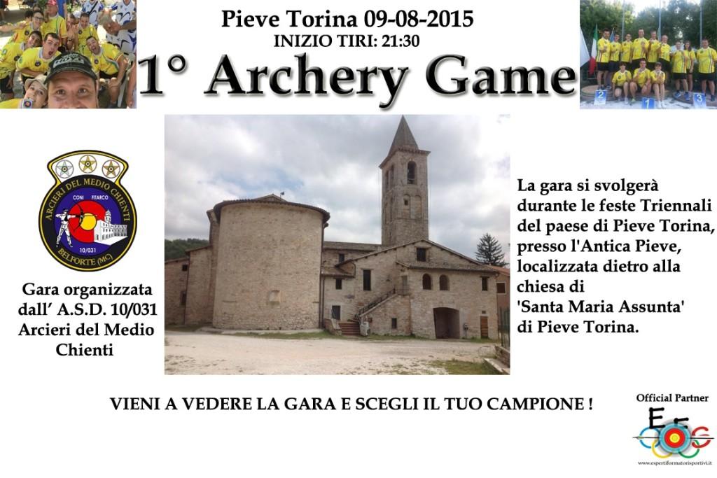 Locandina 1° archery game PieveTorina
