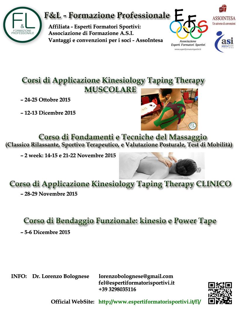 Locandina corsi 1° ottobre - dicembre 2015