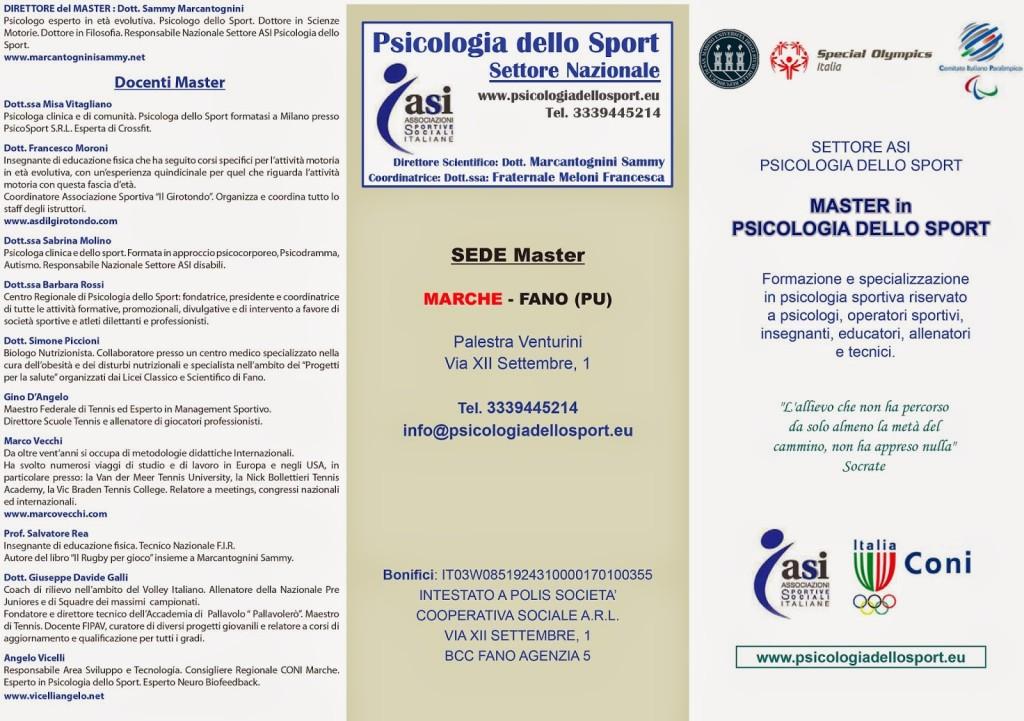 Master Psicologi dello Sport ASI