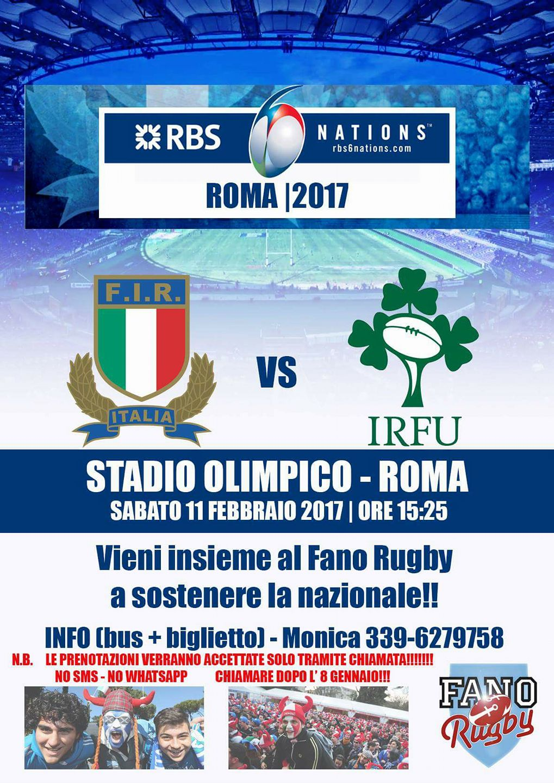 6 nazionai Rugby - Roma
